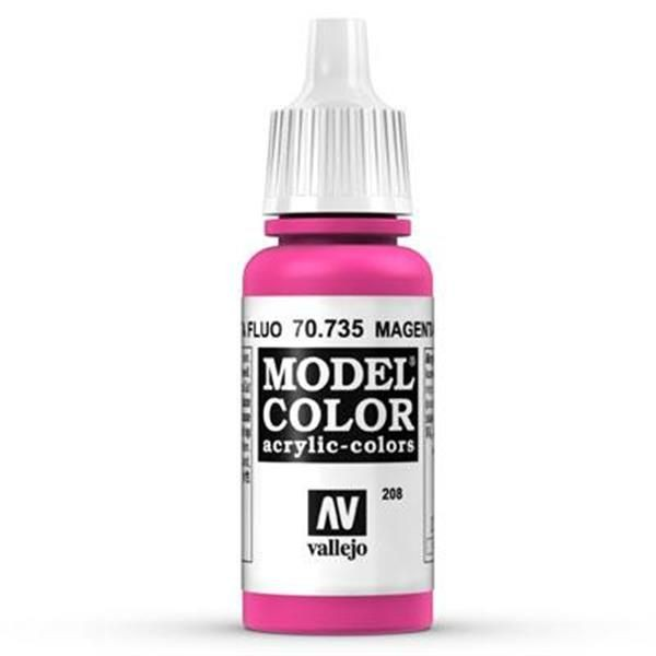 Vallejo Model Color: 208 Magenta Fluo 17ml (70735)