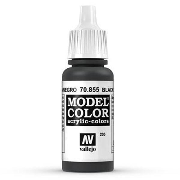 Vallejo Model Color: 205 Black Glaze 17ml (70855)