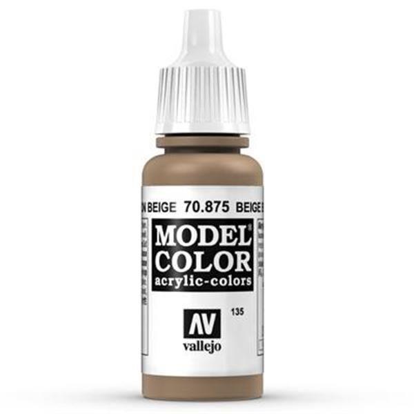 Vallejo Model Color: 135 Beige Brown 17ml (70875)