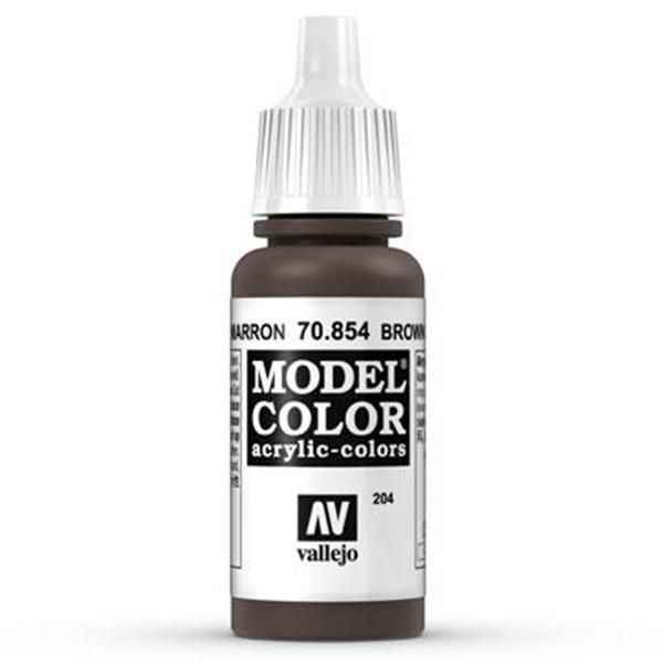 Vallejo Model Color: 204 Brown Glaze 17ml (70854)