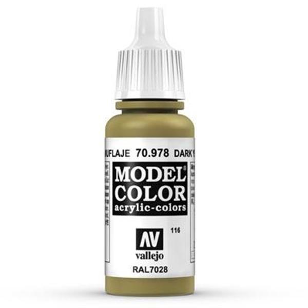 Vallejo Model Color: 116 Currygelb 17ml (70978)