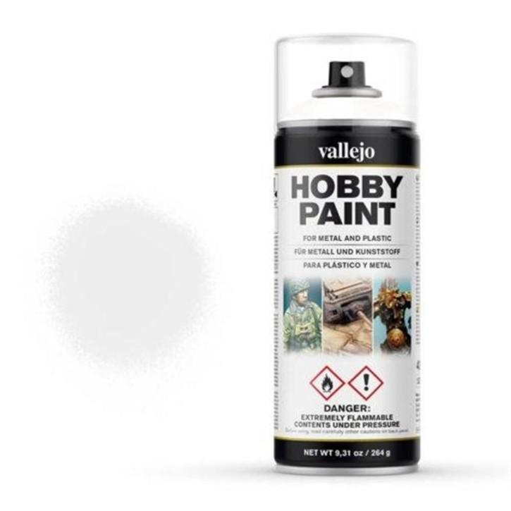 VALLEJO: Paint Spray Primer Premium White (400ml)
