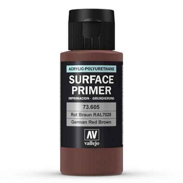 Vallejo Surface Primer: German Red Brown (RAL8012) (60ml)