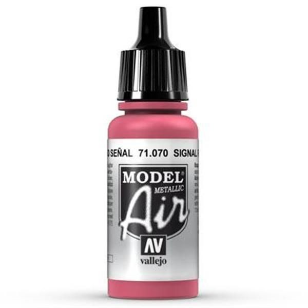 Vallejo Model Air: 070 Signal Red 17ml (71070)