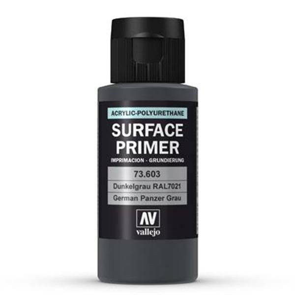Vallejo Surface Primer: Panzer Grey (RAL7021) (60ml)