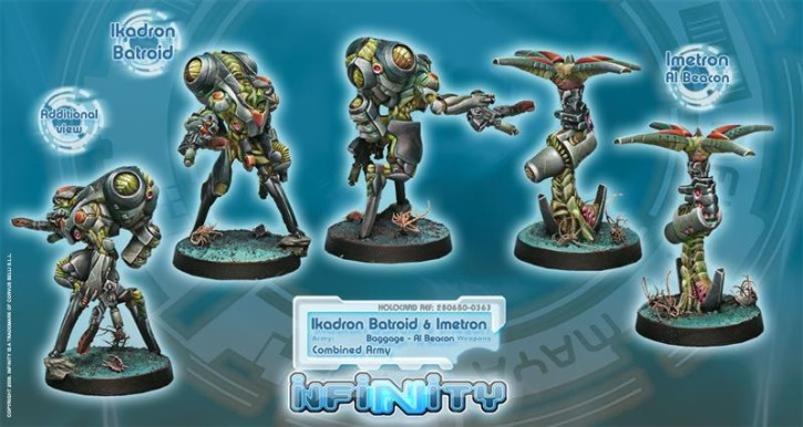 INFINITY: Ikadron Batroids and Imetron (Baggage - Al Beacon)