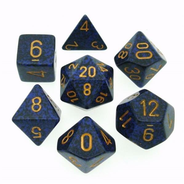 "CHESSEX: Speckled ""Golden Cobalt"" 7-Die RPG Set"