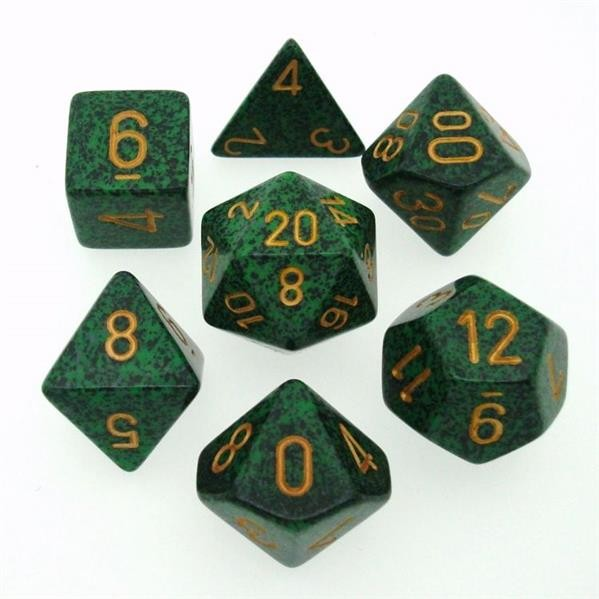 "CHESSEX: Speckled ""Golden Recon"" 7-Würfel RPG Set"