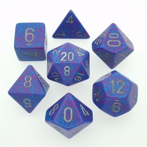 "CHESSEX: Speckled ""Silver Tetra"" 7-Die RPG Set"