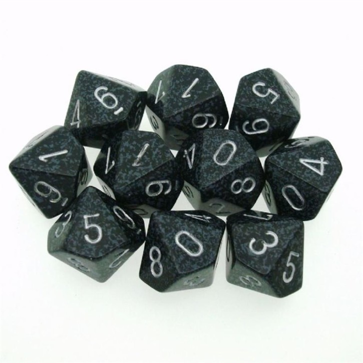 CHESSEX: Speckled Ninja 10 x 10 sided Diceset
