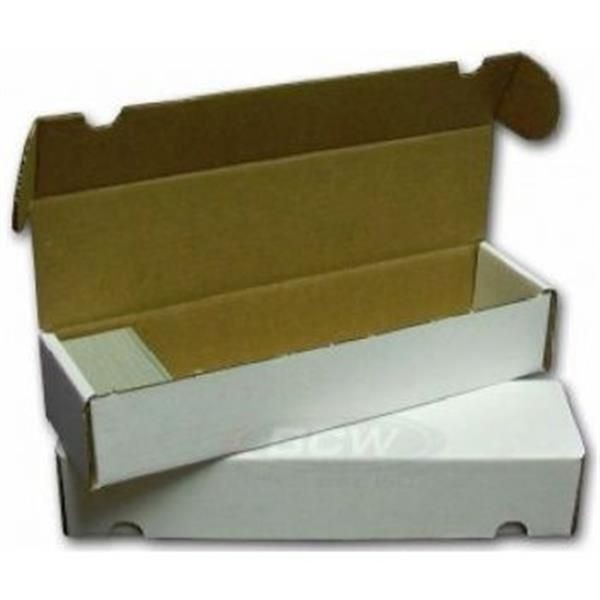 Cardbox / Fold-out Box for Storage of 1.000 Cards