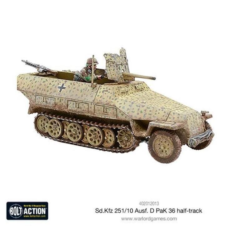 BOLT ACTION: Sd.Kfz 251/10 ausf D (3.7mm Pak) Half Track