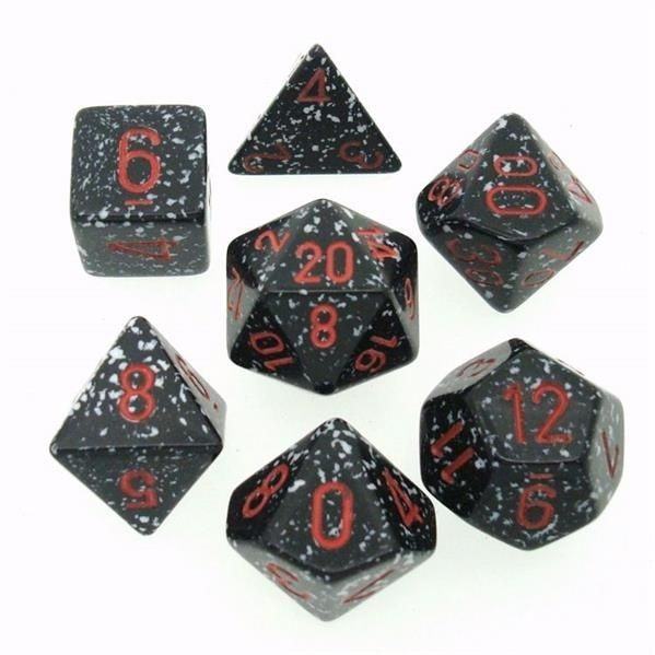 """CHESSEX: Speckled """"Space"""" 7-Die RPG Set"""
