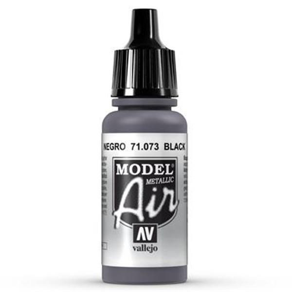 Vallejo Model Air: 073 Black Metal 17ml (71073)