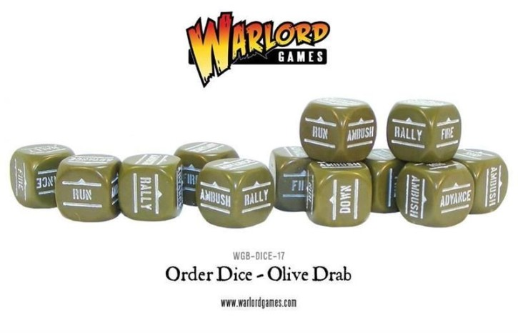 BOLT ACTION: Orders Dice - Olive Drab (12)