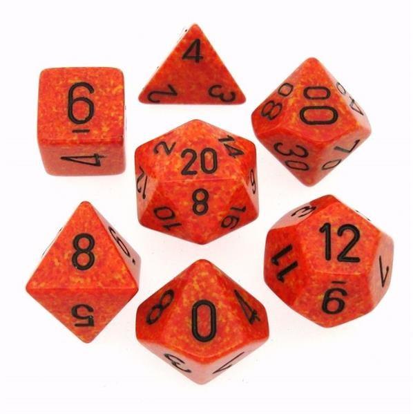 "CHESSEX: Speckled ""Fire"" 7-Die RPG Set"