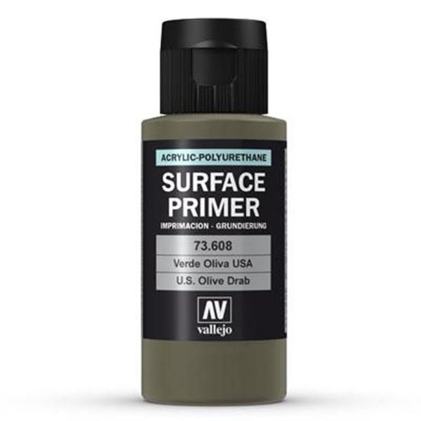 Vallejo Surface Primer: Olive Drab (60ml)