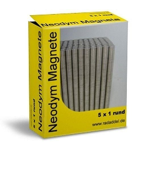 Neodym Magnete round 5x1 mm - 10 Pieces