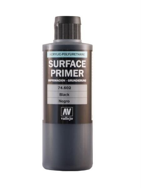 Vallejo Surface Primer: Black (200ml)