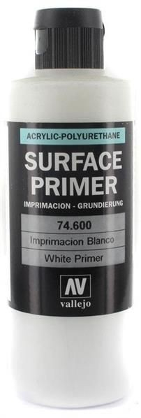 Vallejo Surface Primer: White (200ml)