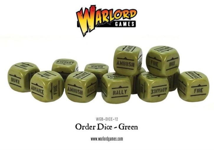 BOLT ACTION: Orders Dice - Green (12)