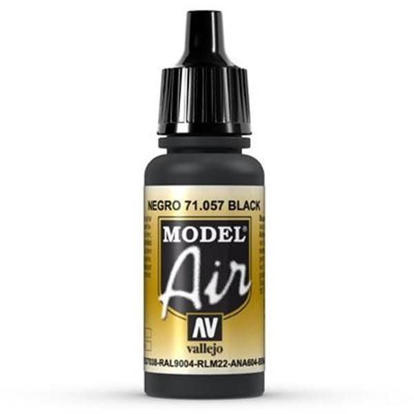Vallejo Model Air: 057 Black 17ml (71057)