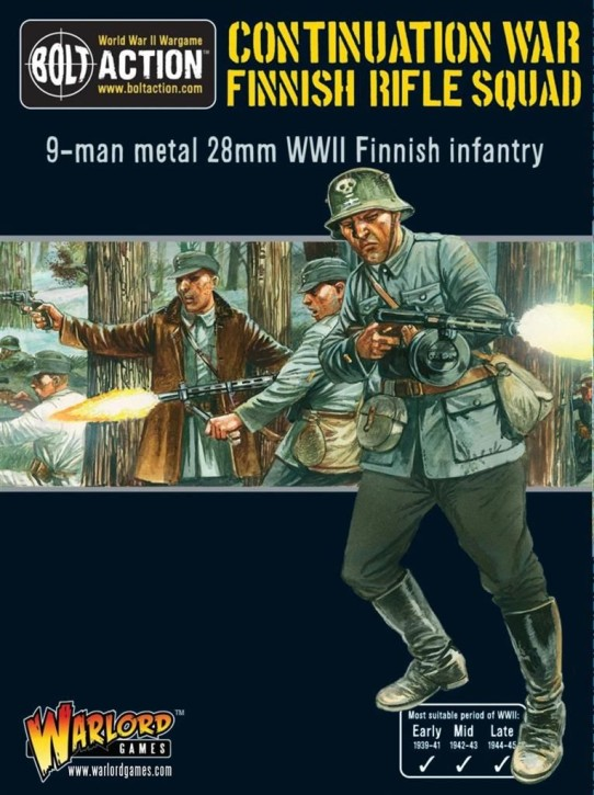 BOLT ACTION: Finnish Infantry boxed set (9 man)