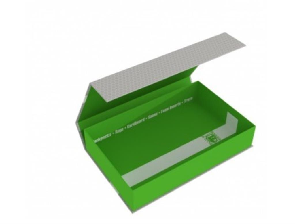 FELDHERR: Magnetic Box half-size 55mm green empty