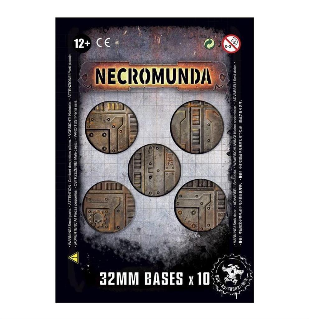 NECROMUNDA: 32mm Bases (x10)