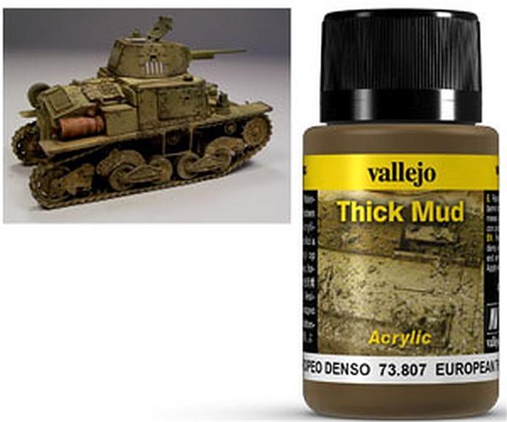 VALLEJO WEATHERING: Thick Mud European (40ml)