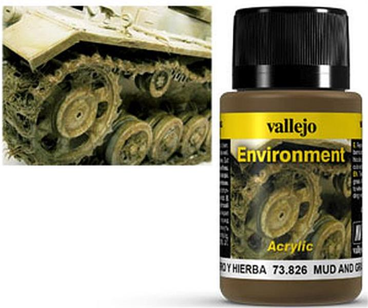 VALLEJO WEATHERING: Environment Mud and Grass Effect (40ml)