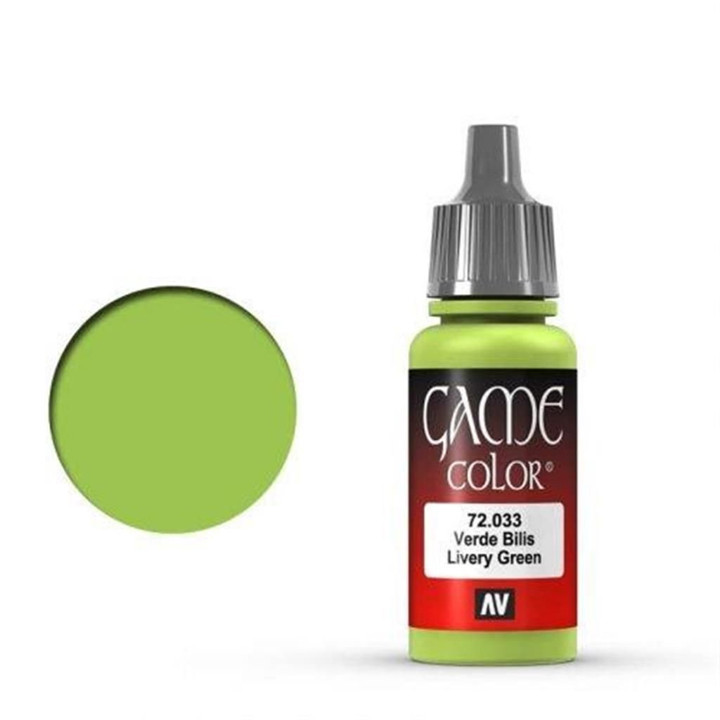VALLEJO GAME COLOR: 033 Livery Green 17 ml