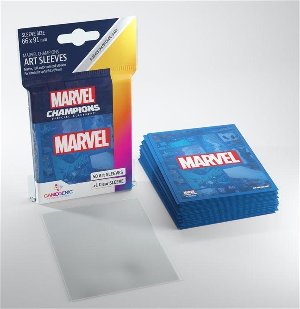 GAMEGENIC: Marvel Blue: MARVEL CHAMPIONS Art-Sleeves