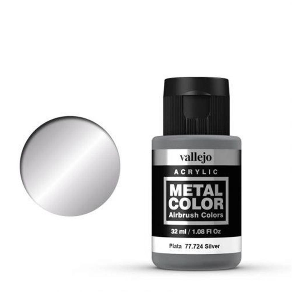 VALLEJO METAL COLOR: 724 Silber 32 ml