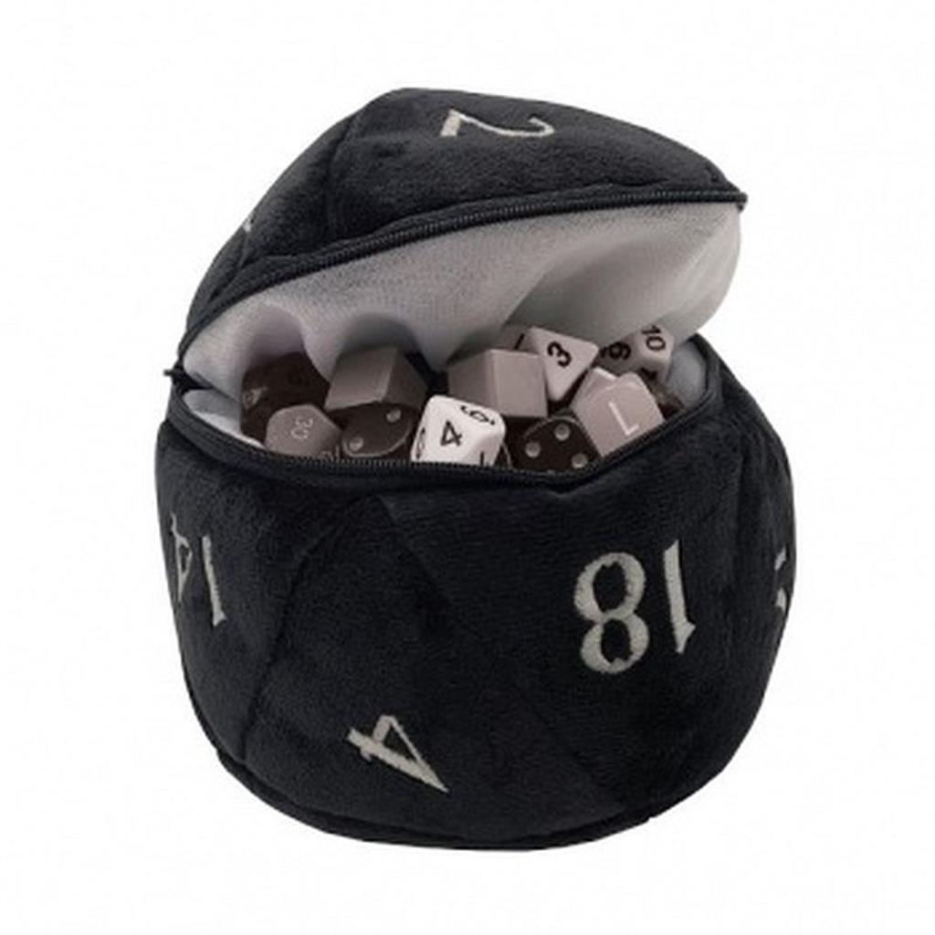 UP: D20 Plush Dice Bag - Black
