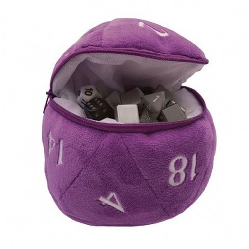 UP: D20 Plush Dice Bag - Purple