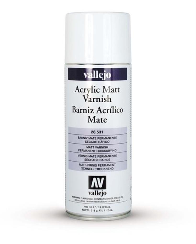 VALLEJO: Premium Varnish Spray Matte (Mattlack) (400ml)