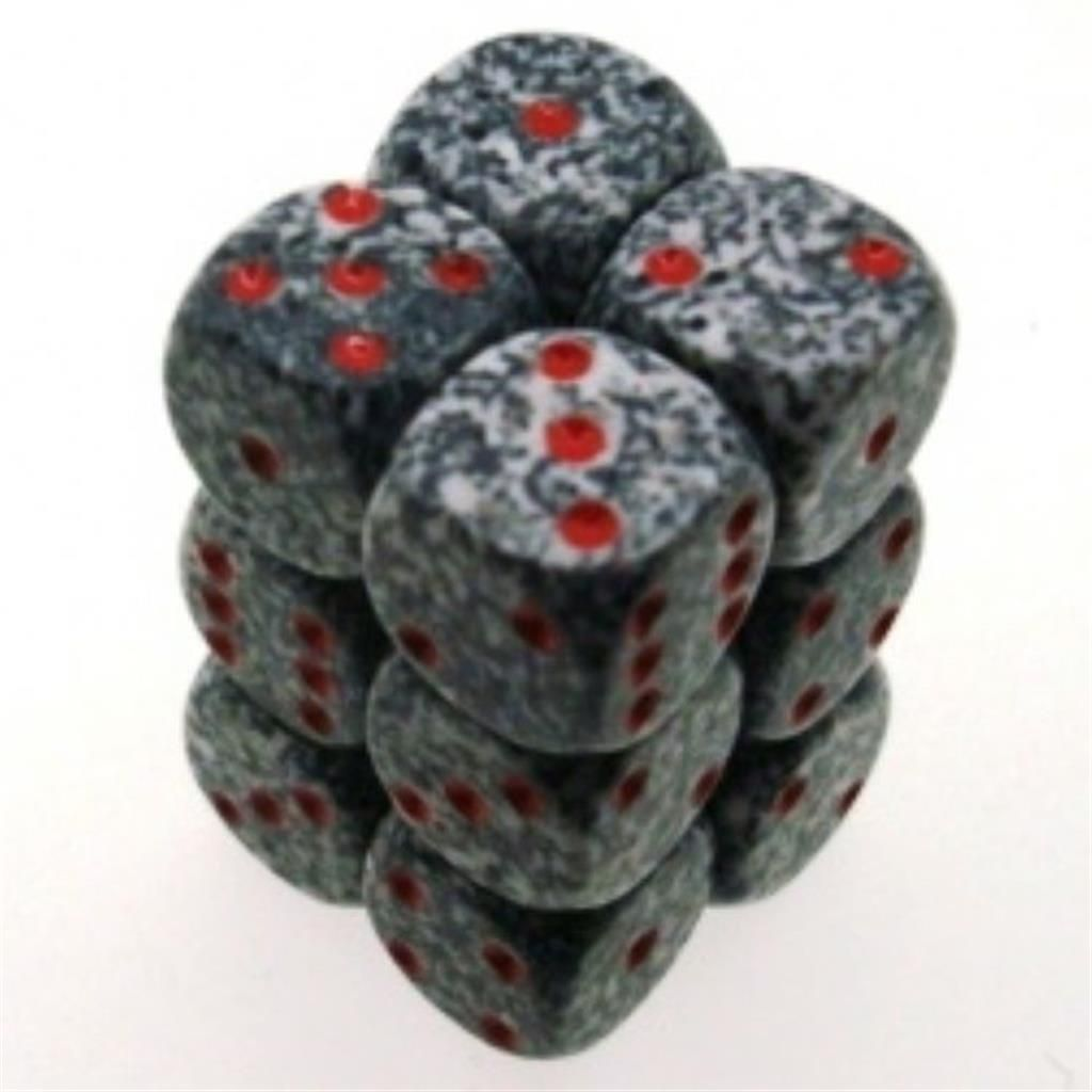 CHESSEX: Speckled Granite 12 x 6 sided Diceset