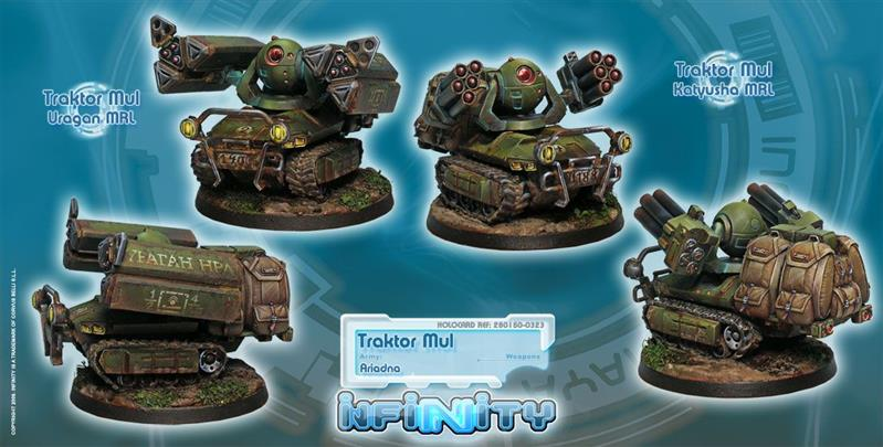 INFINITY: Traktor Muls (Regiment of Artillery and Support)