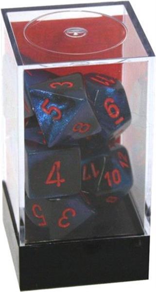 CHESSEX: Gemini Black-Starlight/Red 7-Die RPG Set