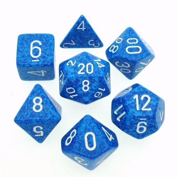 "CHESSEX: Speckled ""Water"" 7-Die RPG Set"