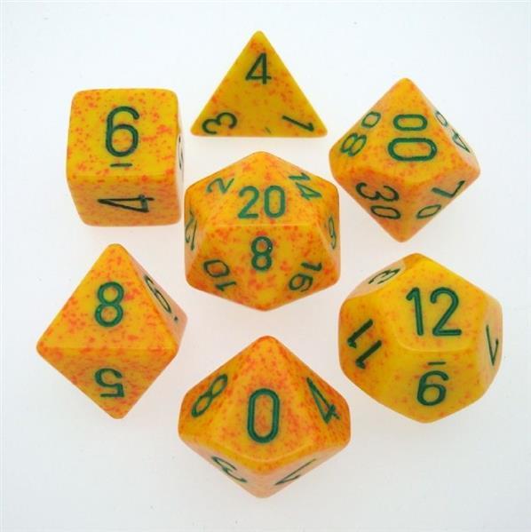 """CHESSEX: Speckled """"Lotus"""" 7-Die RPG Set"""