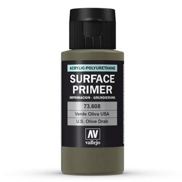 Vallejo Surface Primer: Olive Drab (60ml)