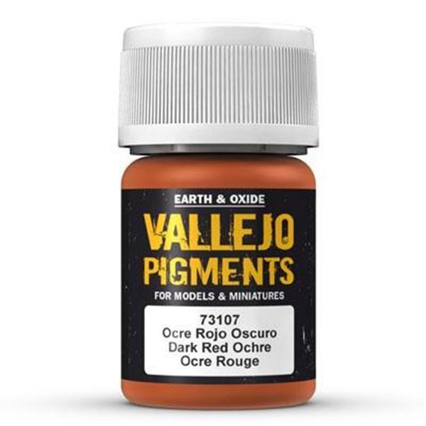 Vallejo Pigment: Dark Red Ocre 30ml