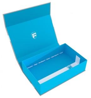 FELDHERR: Magnetic Box half-size 75mm blue empty