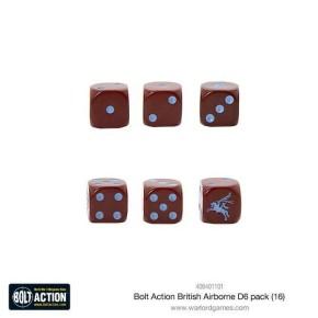 BOLT ACTION: British Airborne D6 Dice (16)