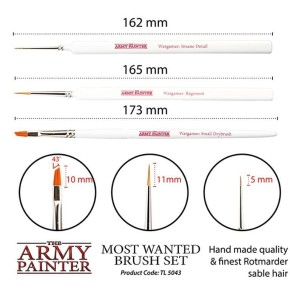 ARMY PAINTER: Wargamers Most Wanted Brush Set